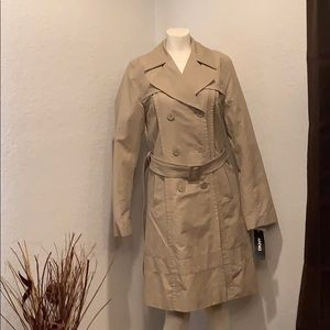 DKNY Double Breasted Belted Trench Coat